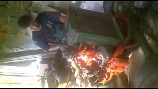 Zetor 25 po GO motora, prvé pokusy naštartovať kľukou