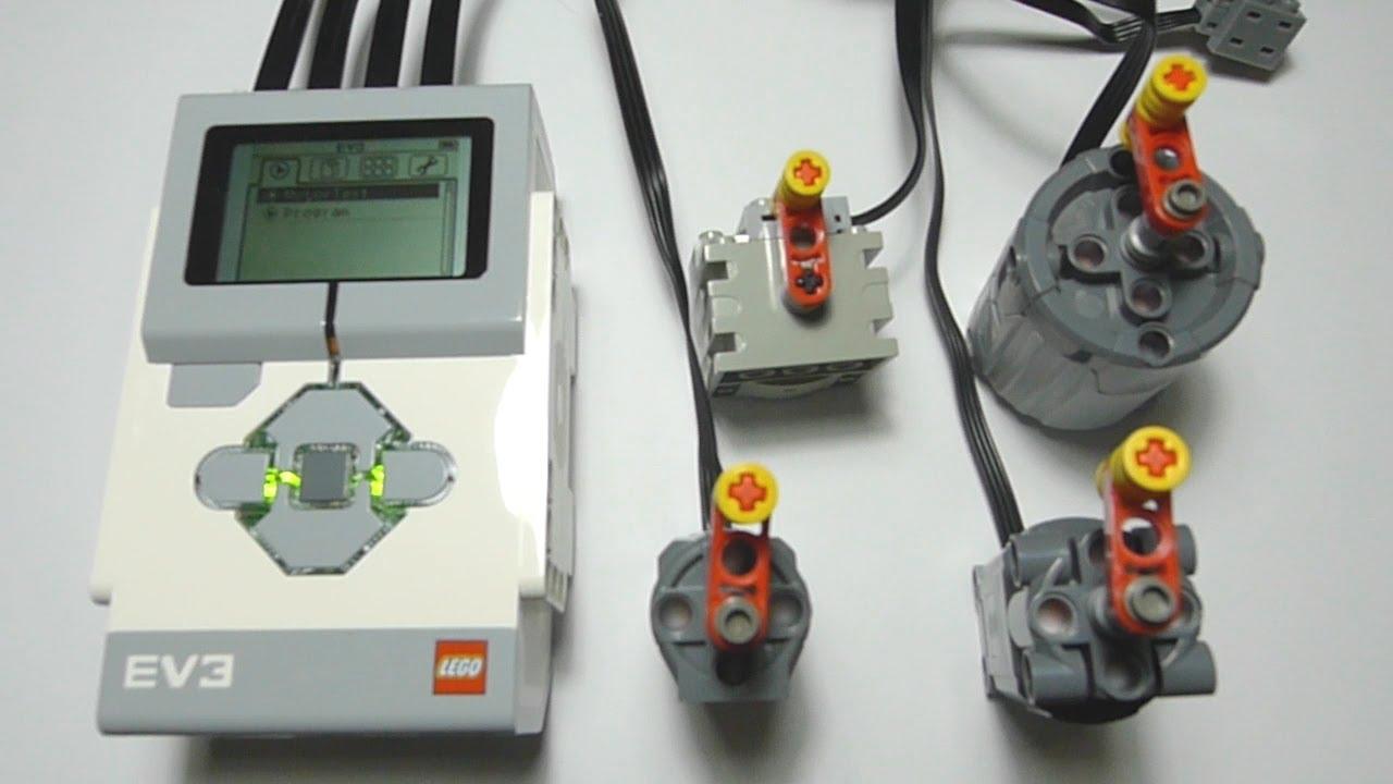 LEGO EV3 Controlling Power Functions Motor - YouTube