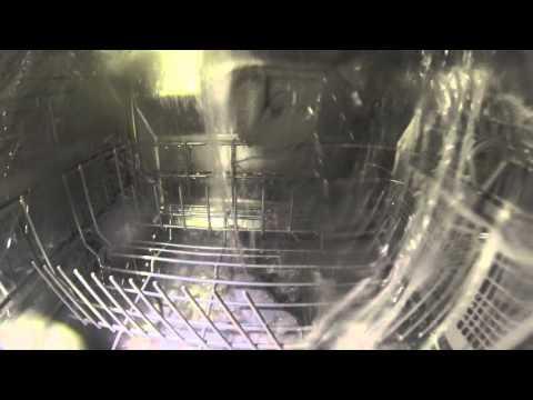Inside a mini (countertop) dishwasher Bosch / Geschirrspüler