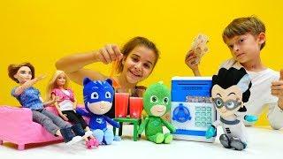 PJ Masks ve Monster High ile yemek oyunları. Eğlenceli video.