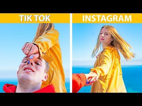 Instagram and TikTok vs Real Life! 20 Phone Photo Hacks
