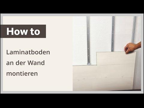 Laminatboden an der Wand montieren – Verlegeanleitung HARO Laminat (deutsch)