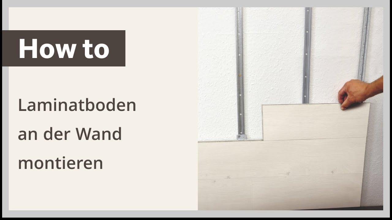 Wohnwand selber bauen laminat  Laminatboden an der Wand montieren – Verlegeanleitung HARO Laminat ...