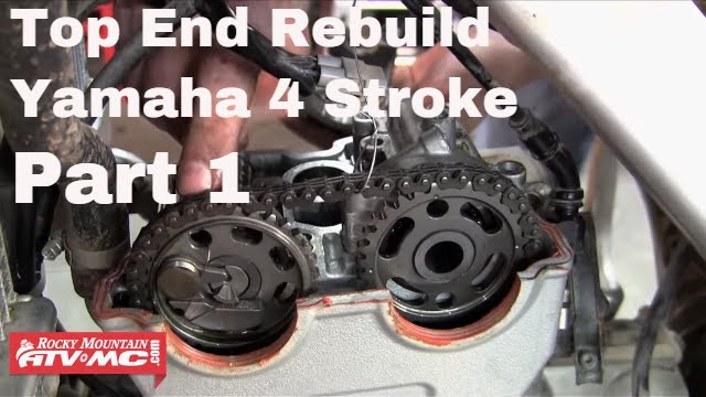 Motorcycle Top End Rebuild On Yamaha Four Stroke Part 1