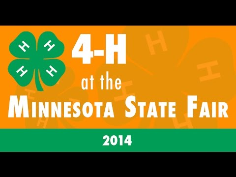 4-H at the 2014 Minnesota State Fair