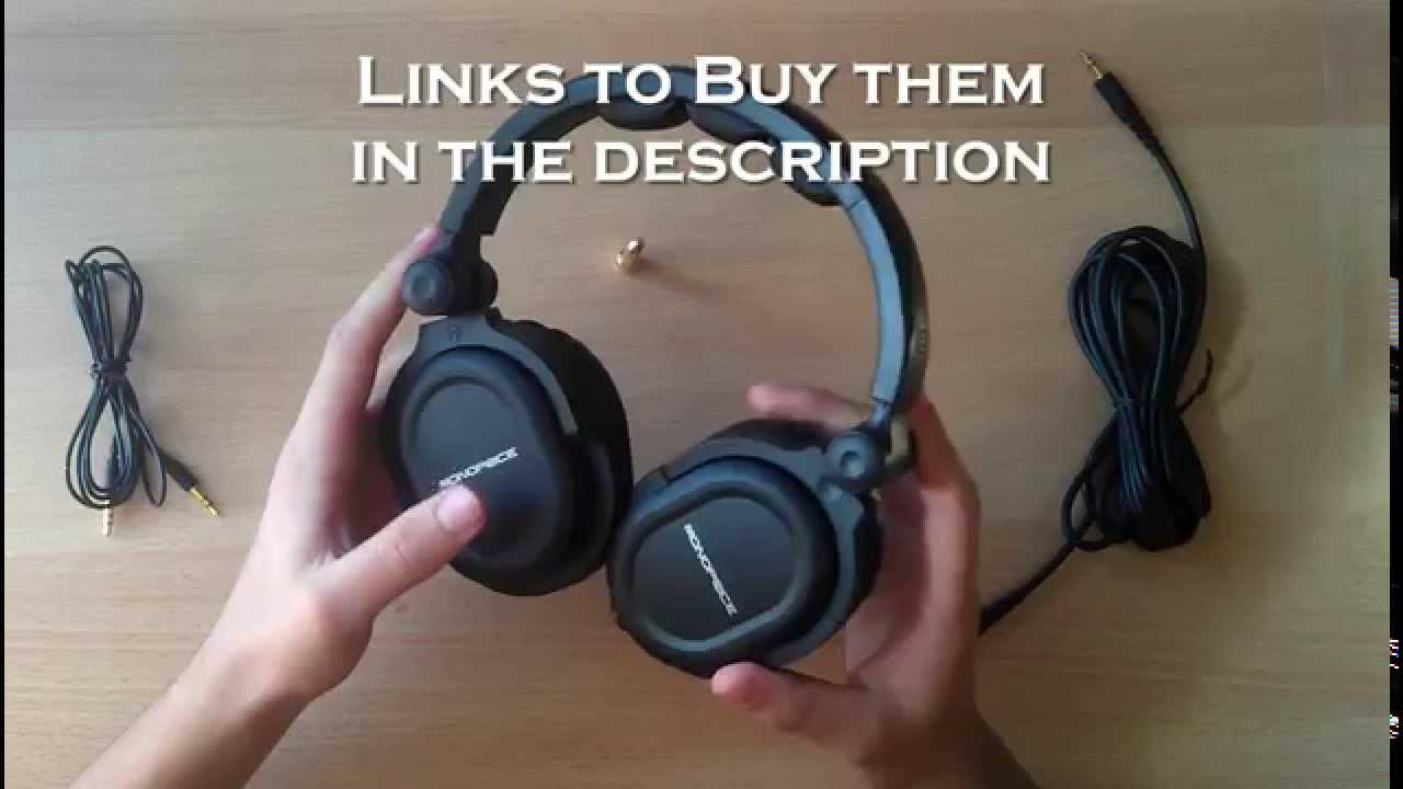 0593a662e58 Monoprice Hi-Fi Dj Style Over The Ear Pro Headphones - Review ...