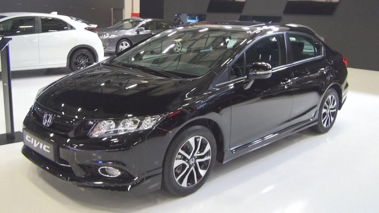 Honda Civic Black Edition 2015 Exterior and Interior in 3D  YouTube