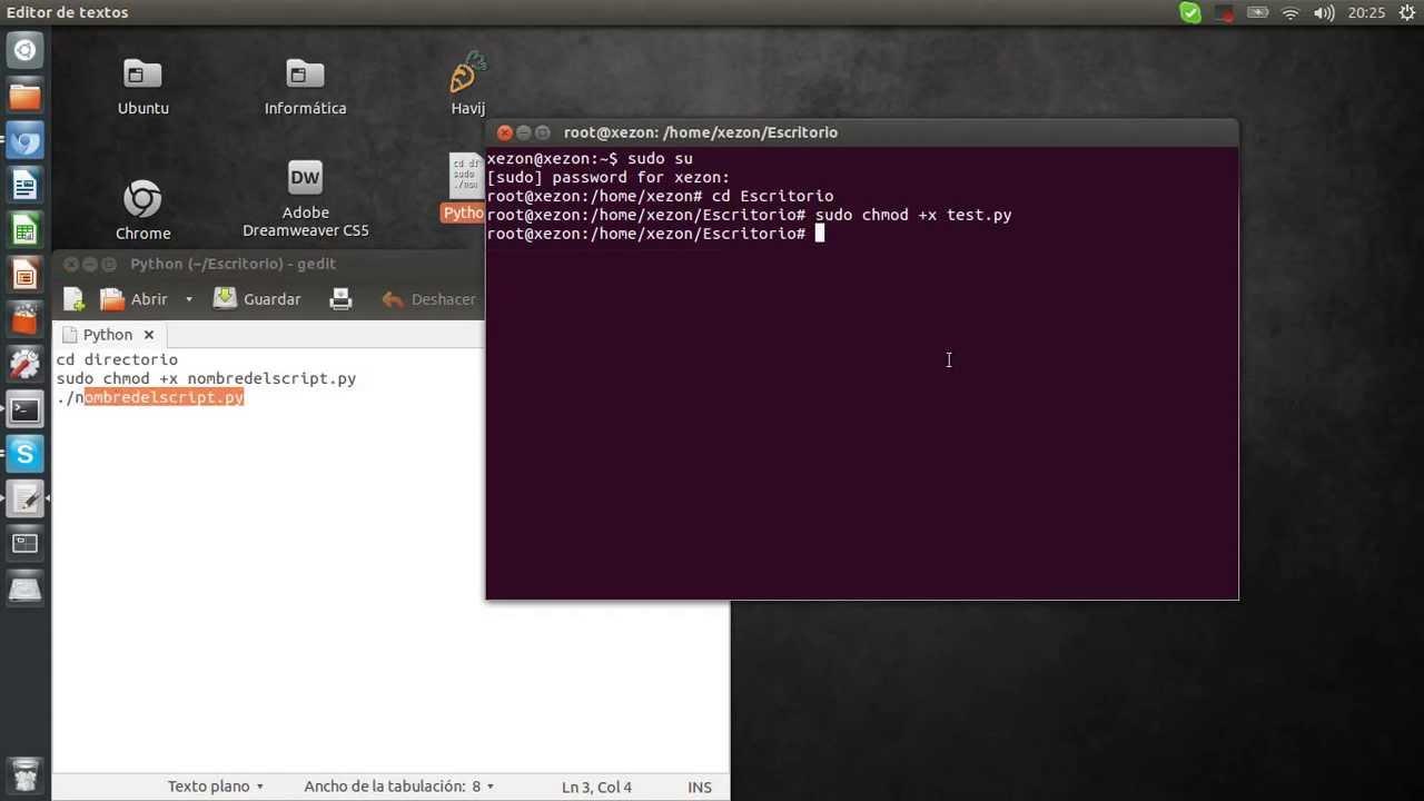 Ejemplo Python [Ubuntu] - YouTube