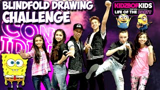 Blindfold Drawing Challenge with the Kidz Bop Kids | Minion Spongebob Batman Life Of The Party Tour