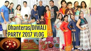 Dhanteras, Diwali Party Vlog 2017 | SuperPrincessjo