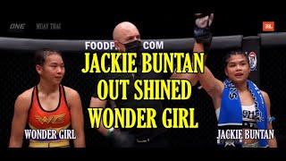 JACKIE BUNTAN OUTCLASSED WONDERGIRL FAIRTEX     MUAY THAI