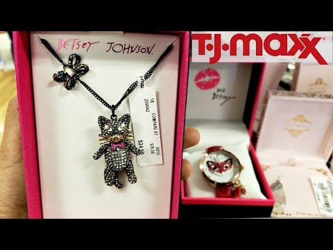 TJ MAXX BROWSE WITH ME BETSEY JOHNSON JEWELRY HANDBAGS MAKEUP 2018