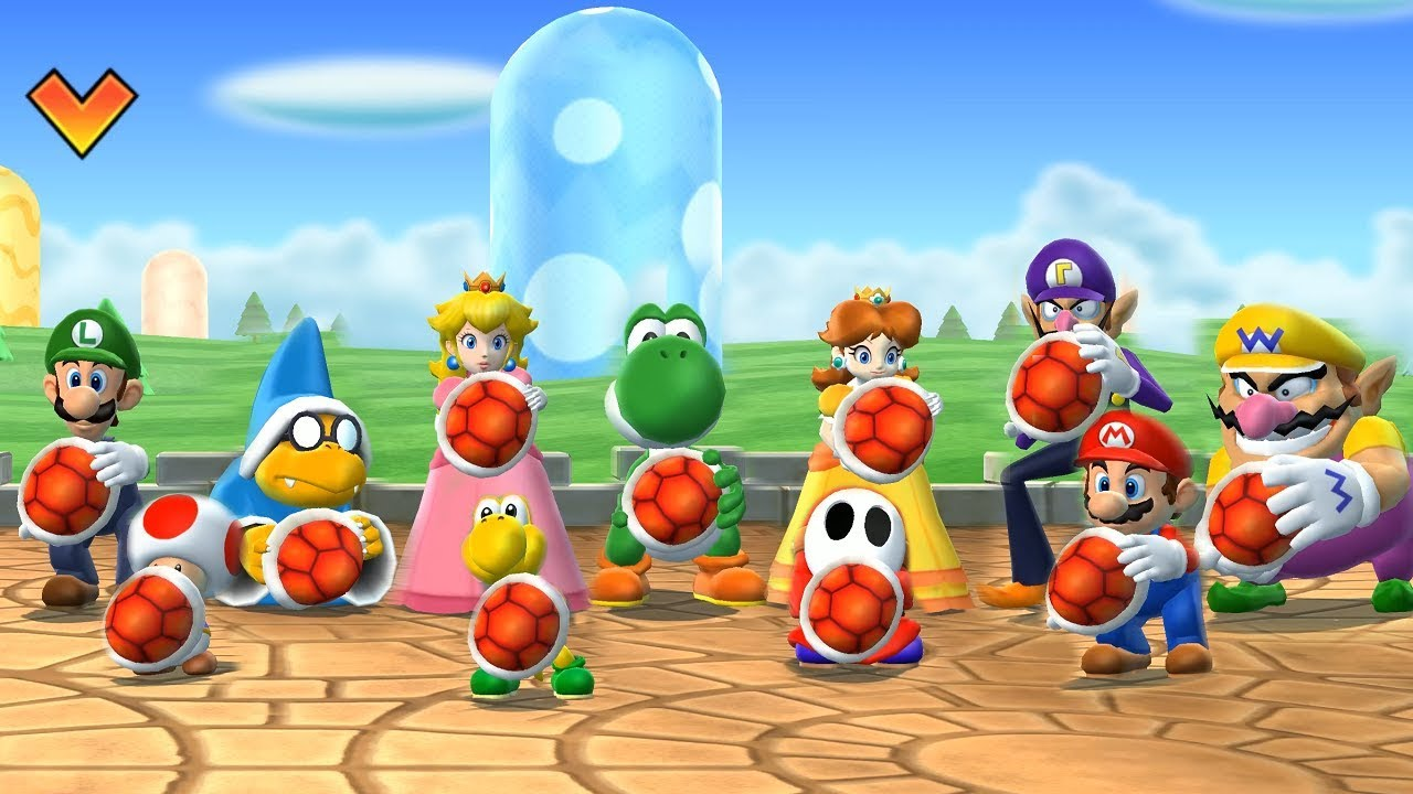 mario party 9 goomba bowling all characters gameplay cartoonns mee