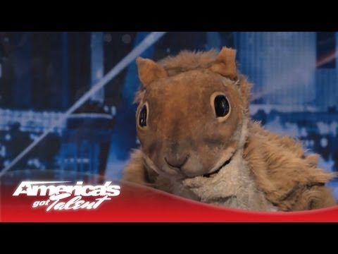 Johnny Jetpack - Giant Squirrel Swallows a Little Boy on AGT Stage - America's Got Talent 2013