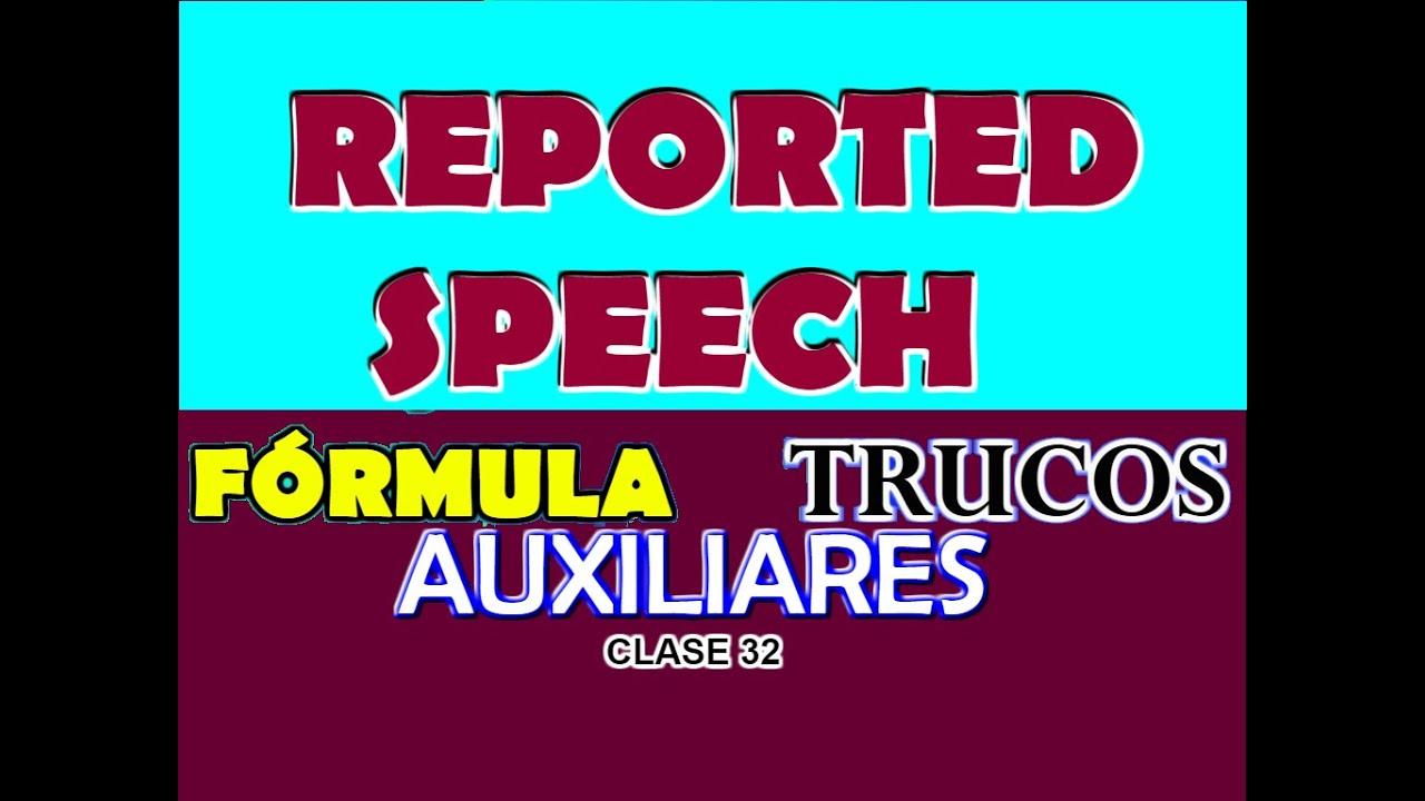 REPORTED SPEECH EN INGLÉS