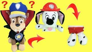 Paw patrol en Halloween: bebes escondidos de Chase con la manta mágica. Jugamos al escondite