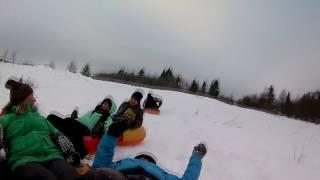 Здесь все по взрослому :))  Снежная горка в Перемилово. Анкин ДР  28 января