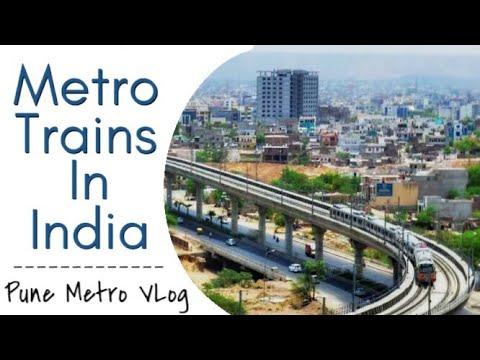 Pune Metro Rail Progress- VLog Part 12- History of Metro Trains in India
