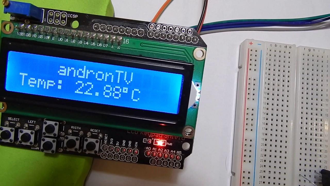 DALLAS DS18B20 Temperature Sensor. Arduino