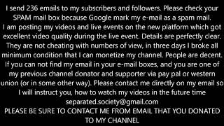 NOTICE TO MY CHANNEL SUPPORTERS AND FOLLOWERS