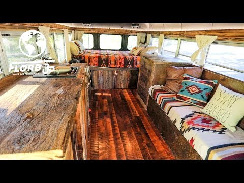 Bartender Quits Job to Live in a School Bus