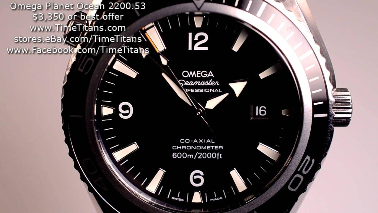 omega seamaster professional planet ocean 2200 53 45mm xl 600m cal