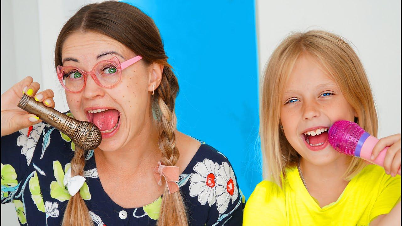Шоколадное и Настоящее Челлендж Марго и сестренка Клуша