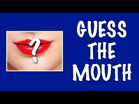 GUESS THE CELEBRITY'S MOUTH CHALLENGE