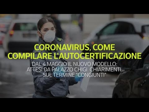 Coronavirus, ecco come compilare la nuova autocertificazione