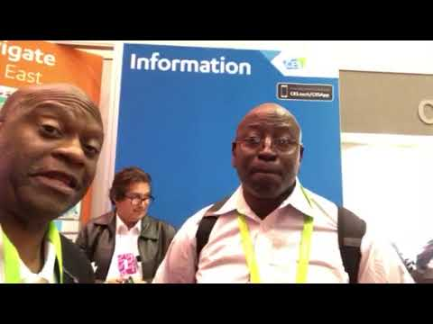 Isaac First Time At CES (CES 2018) Las Vegas Works For Homeland Security In DC