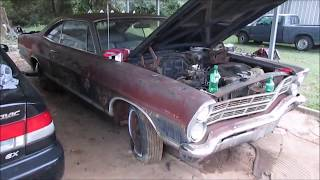 "1967 FORD GALAXIE 500 RESCUE!  ""First start after 25 years"""