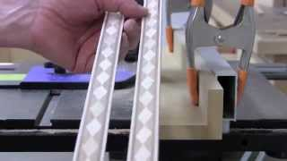 Diamond Wood Inlay Banding - 45 Degrees