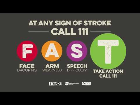 Be ready to Take FAST Action If You Think a Stroke
