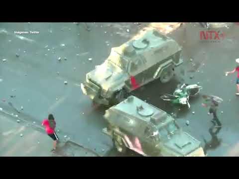 Jornada Violenta En Manifestación Chilena