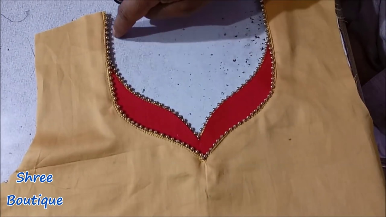 8b87b1162a4d72 Beautiful Latest Neck Design for Suits / Kurti / Kameez Cutting And  Stitching with Shree Boutique