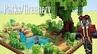 Minecraft Tutorial: How to Make Parks and Greenery feat. MrWolfff