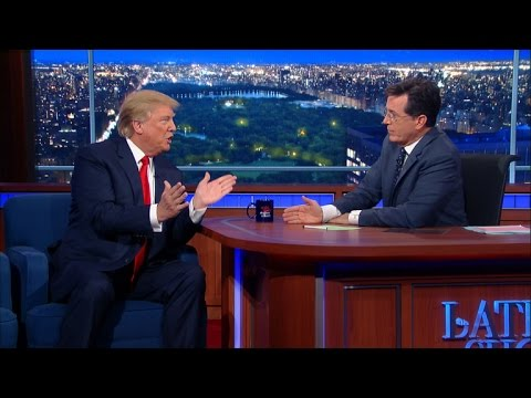 Stephen Colbert's Interview With Donald Trump