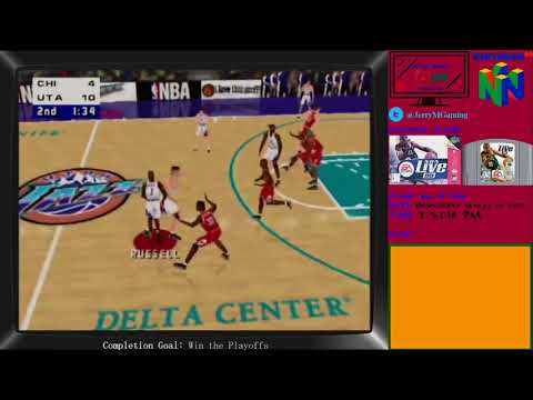 NBA LIve 99: Game 26 of 296 Nintendo 64 Games Completed Live!