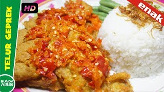 Telur Geprek Krispi Extra Pedas - Resep Masakan Indonesia Bunda airin