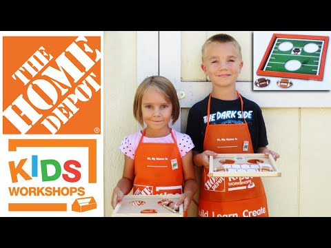 Home Depot Kids Workshop Build - Football Toss - 9/5/2015
