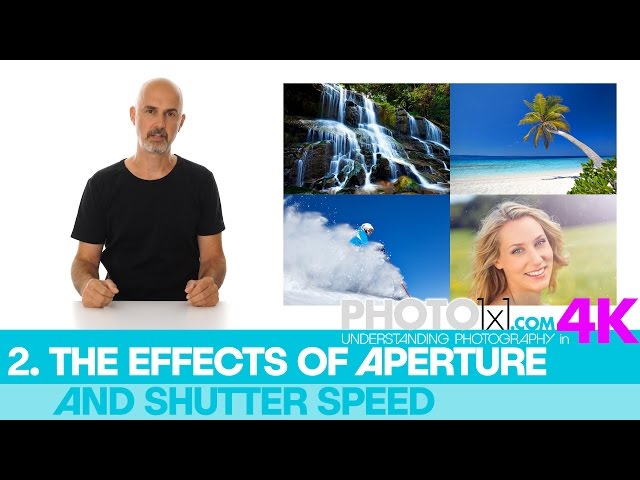 2. The EFFECTS of APERTURE and SHUTTER SPEED in our free photography course - intro to the chapter