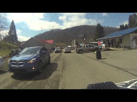3-21-15 Maple Syrup Ride Pickens WV Vid 13 - Ride In To Pickens and the Festival!