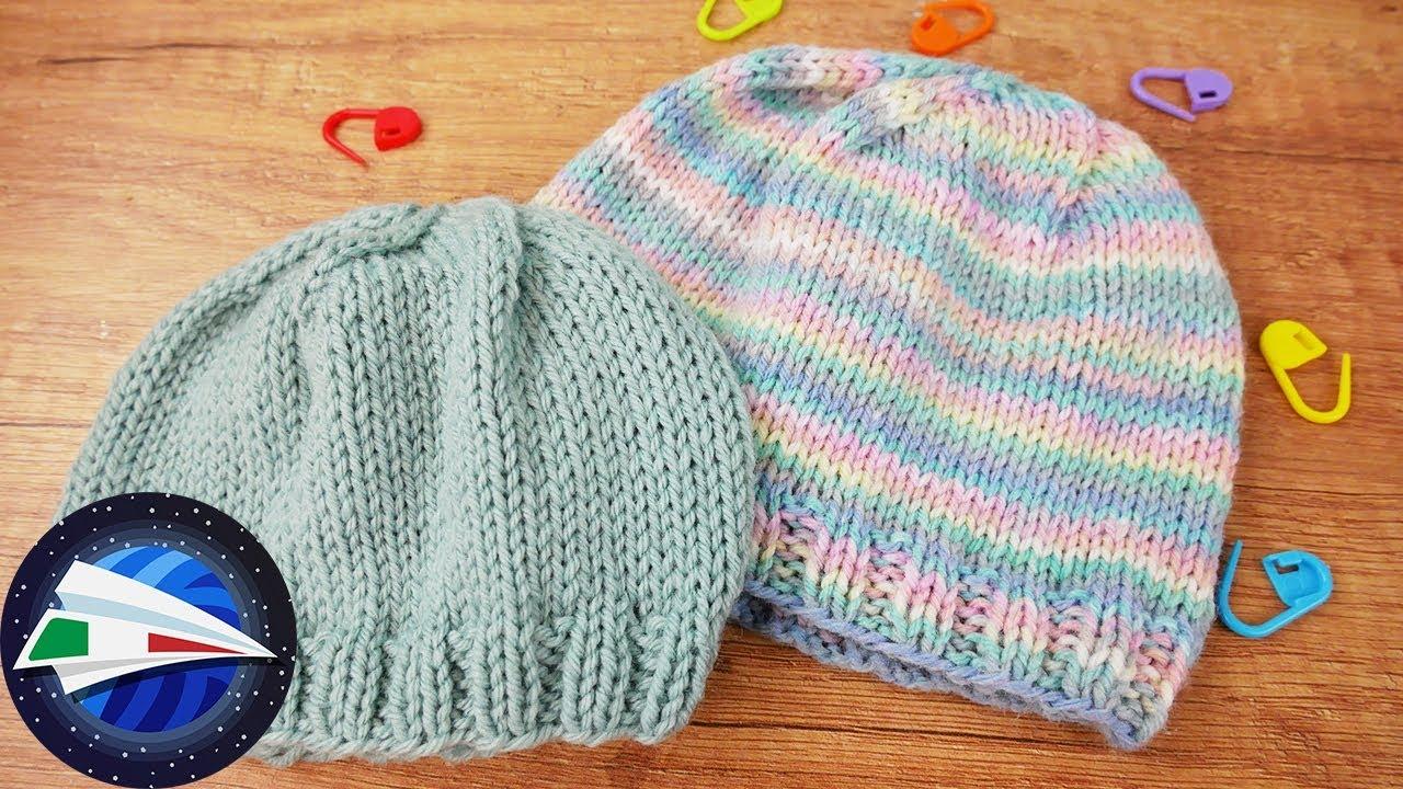 Ben noto Cappello per Bambini ai Ferri | Lana Pastello Multicolore | Maglia FA58