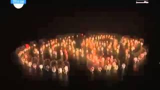 Palm Jumeirah Island Fireworks in Dubai 2015 Live HD Aerial view