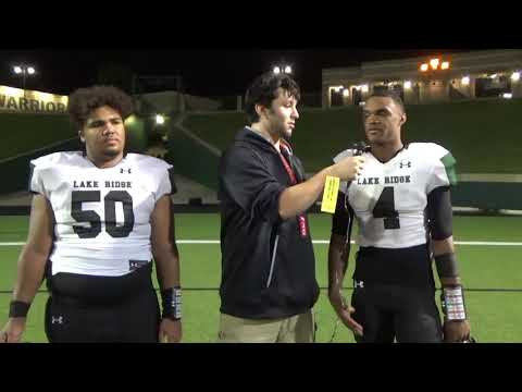 Lake Ridge Post Game Interviews after Defeating South Grand Prairie 34-22