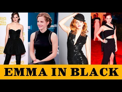 Beauty and the Black | Emma Watson in Black | Amazing Beauty thumbnail