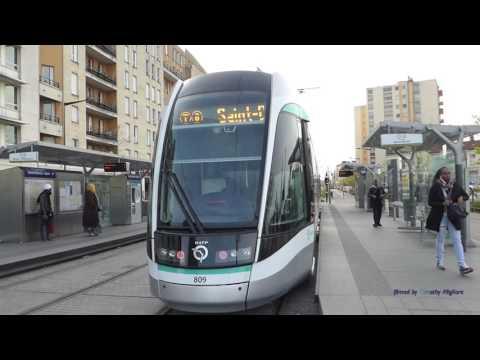 T8 Tram in Paris, France
