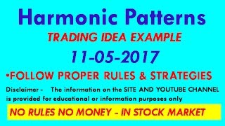 # 8 Harmonic Patterns TRADING IDEA EXAMPLE 11 05 2017