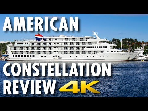 American Constellation Tour & Review ~ American Cruise Lines ~ Cruise Ship Review [4K Ultra HD]