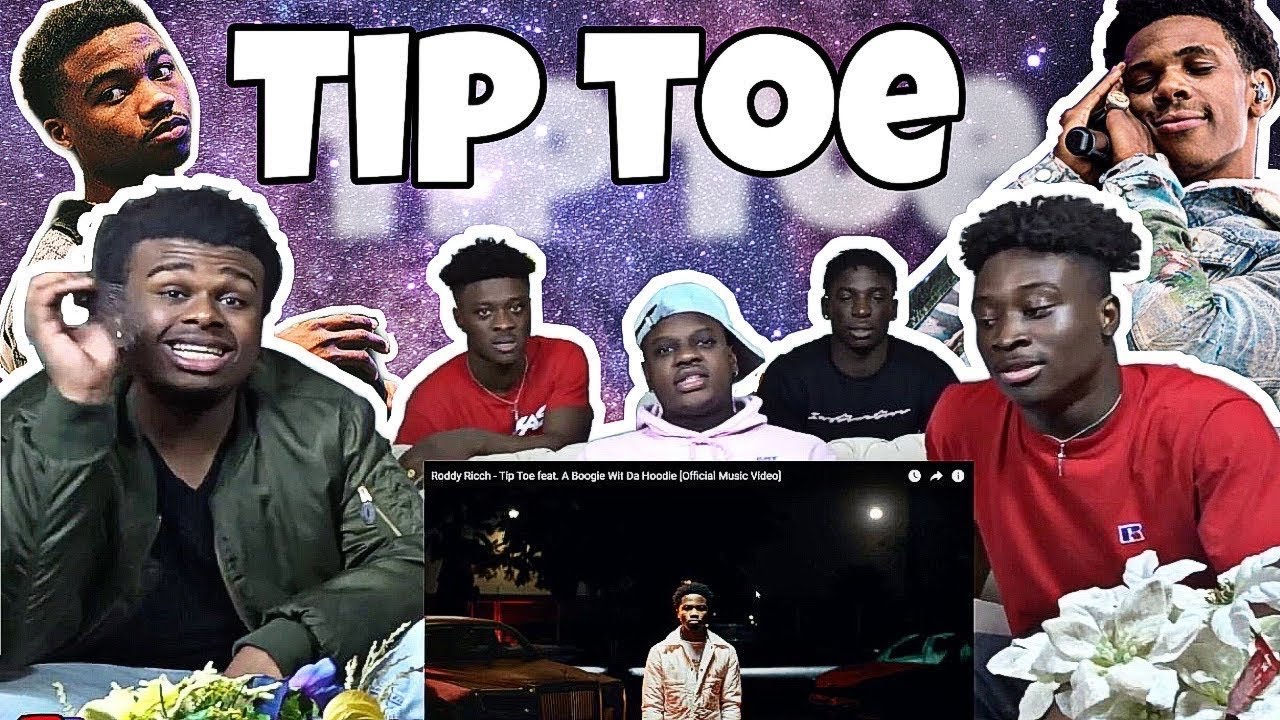 Roddy Rich - Tip Toe (ft A boogie with da hoodie) *Reaction